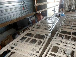 Deux camions de lits médicalisés partent pour l'Ukraine
