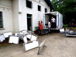 Le 77ème camion humanitaire d'AIMA, pour la région de Zemgale en Lettonie