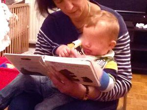 Moment de lecture avant l'arrivées des mamans
