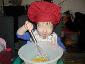 Préparation de la pâte chez Cécile