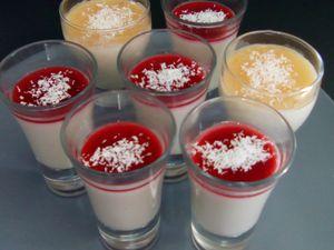 Pana cotta allégée au lait de coco