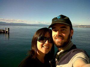 Toujours en septembre 2013... Cette fois on est à Evian, sur les berges du lac Léman... Eh, les anciens d'Anthalys, vous vous souvenez de cette casquette? Vous l'avez toujours vous?