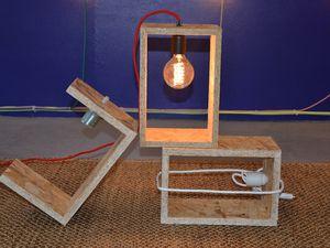 Dernière création lumineuse :  lampe JACK