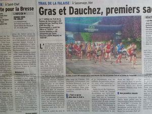 Trail de Sassenage 2015 (Dauphiné Libéré)