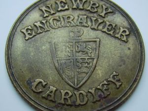Token Pubicitaire  -   NEWBY ENGRAGER CARDIFF  Ref 8460   ++++