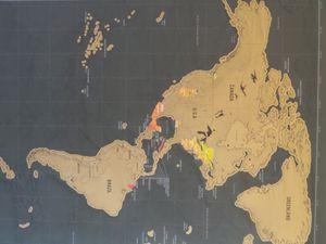 La map monde personnalisée de la globetrotteuse que je croyais être