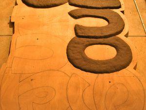 Et un panneau ...  Pâte à papier sur bois