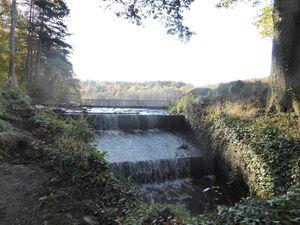 Le grand étang de St Rémy et son déversoir