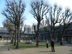 Aître St Maclou - ancien cimetière charnier ( peste noire  de 1348) devenu école pour garçons pauvres au 19ème siècle