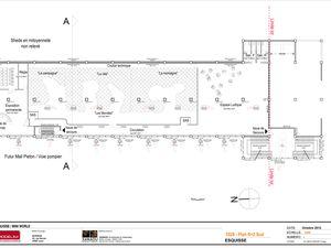 Première Version des plans avec aménagement du premier étage, idée abandonnée suite au surcout de l'opération.