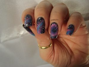 Nail art Galaxy &amp&#x3B; Nebuleuse