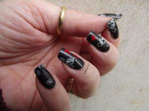 Nail art Nounours Gris