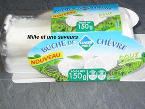 je me permets de mettre une photo vous montrant à quoi ressemble l'estragon et le fromage de chèvre frais que j'ai utilisé