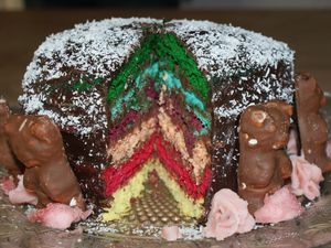 Magic Rainbow cake