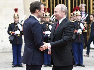 Première rencontre entre Emmanuel Macron et Vladimir Poutine, le 29 mai 2017