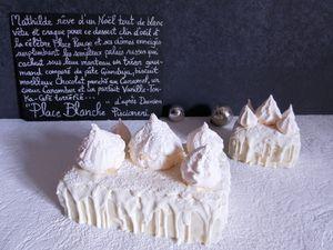 Place Blanche d'après Damien Piscioneri (Café Pouchkine Paris) : Pâte au Gianduja-Moelleux Chocolat-Coeur  Carambar- Parfait Vanille, Tonka, Café