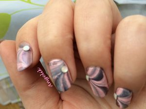 Water Marble rose et gris multi