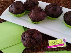 Muffins Chocolat - Groseilles
