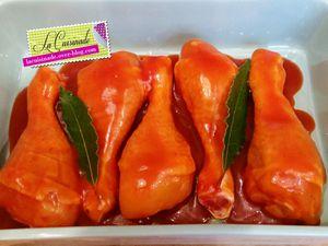 Pignon de poulet caramélisé au miel