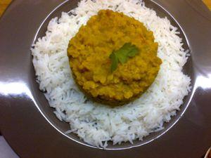 Curry de lentilles corail (Dal)