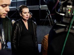 (Sabina Guzzanti sur le tournage de La trattativa)