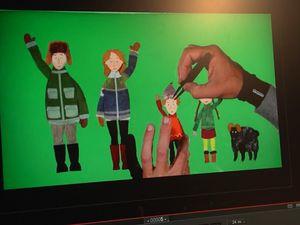 (Jacques-Rémy Girerd, créateur du studio drômois Folimage / Animation de papiers decoupes-Neige)