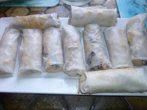 Nems de porc et riz cantonnais