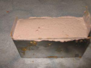 Entremets mousse spéculos et chocolat sur feuilleté praliné