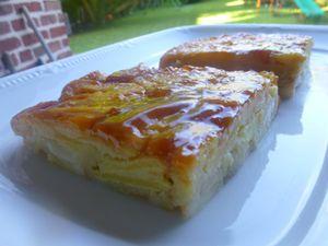 tarte invisible pommes,poires et caramel au beurre salé