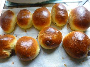 petits pains au lait sans beurre et au chocolat