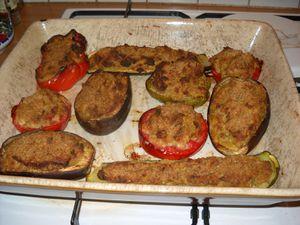 Légers petits farcis de légumes provençaux