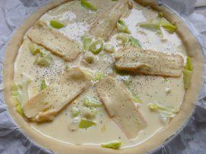tarte aux poireaux et crème de Maroilles