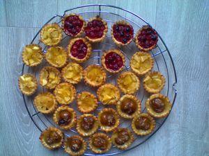 minis tatins apéritives aux tomates cerise à la façon de ma popine Pat