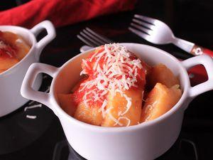 ñoquis de boniato (gnocchi de patate douce)