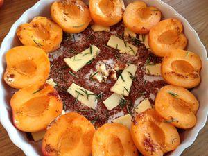 Tarte fine abricots et romarin
