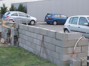 montage du mur de cloture