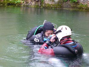 Initiation plongée spéléo : Goul de la Tannerie