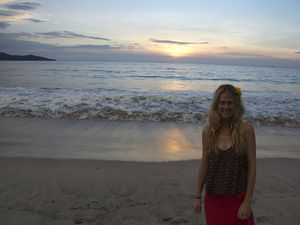 First stop at playa Conchal in Brasilito, very nice Conchal Hotel and beautiful sunsets