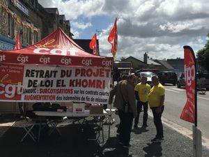 La CGT sur la route du tour de France dans la manche