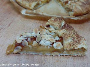 Tarte rustique au pommes et amandes