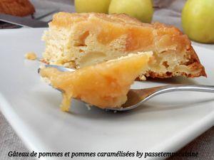 Gâteau de pommes et pommes caramélisées