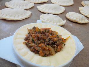 Chaussons à la viande hachée et légumes