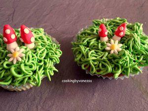 Montage de la décoration des cupcakes pâques
