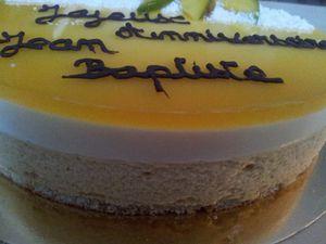 Entremet Mangue/Passion - Chocolat Blanc