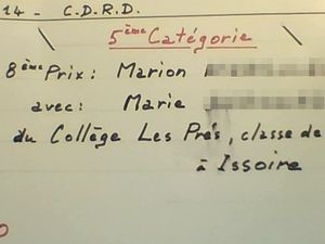 Récompense CDRD