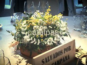 Decoración mesas - catalpas centro jardinería