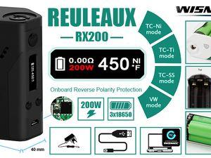 Test - Box - Reuleaux RX 200 de chez Wismec par Gearbest