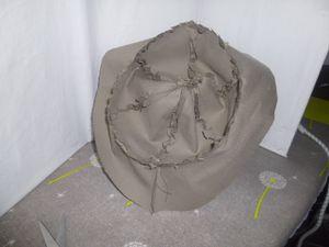 Chapeau reversible fille taille 1 an et turban assorti