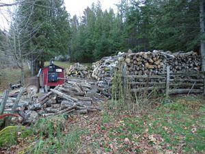Pile de bois ...