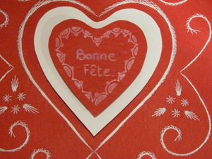 Carte St Valentin...